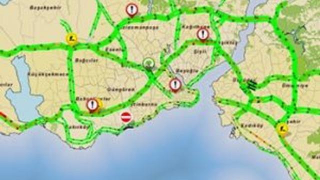 İstanbul'da trafik yoğunluğu şaşırttı !