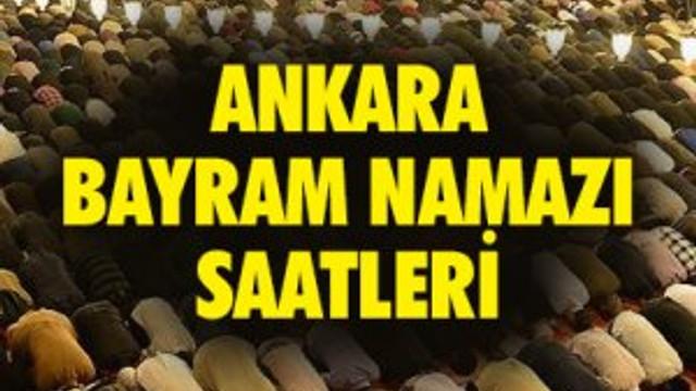 Ankara bayram namazı saati- İl il bayram namazı saatleri 2016