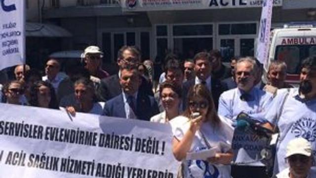 Binali Yıldırım'a Acil Servis protestosu