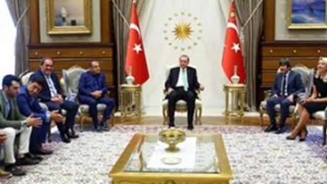 Erdoğan sanatçı ve sporcuları kabul etti !