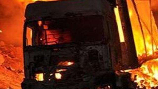 PKK yine iş başında ! İş makinelerini yaktı