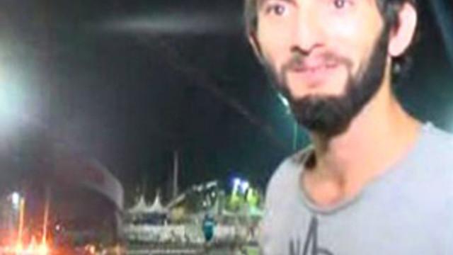 Rizeli genç dev balonu almadan Yenikapı'dan ayrılmadı