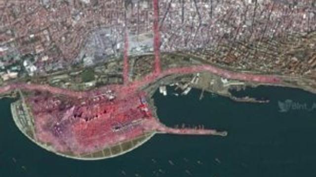 İşte Yenikapı'daki mitingin uzaydan görüntüsü