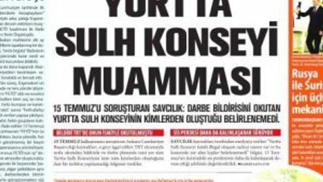 Yeni Asya gazetesi Fetullah'a sahip çıktı