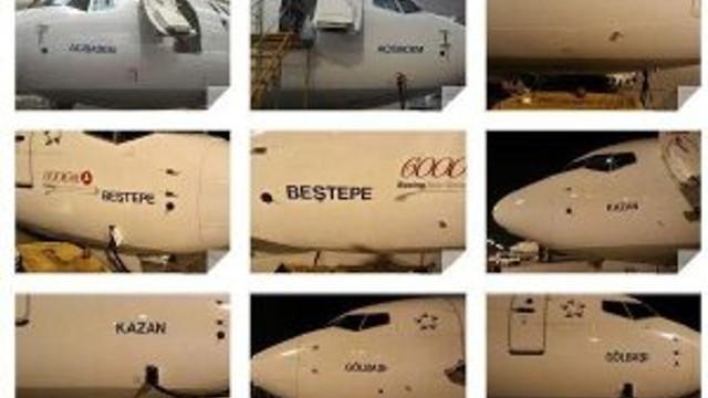 Kahraman semtler THY uçaklarında