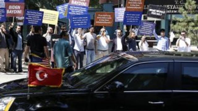 Joe Biden'e Ankara'da protesto