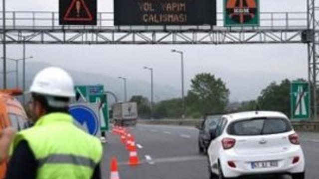 TEM'de çalışma: İstanbul yönü 5 gün kapalı