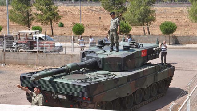 İstanbul'dan gönderilen tank ve öbüsler Gaziantep'te