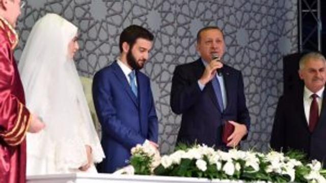 Erdoğan ve Yıldırım nikah şahidi oldu