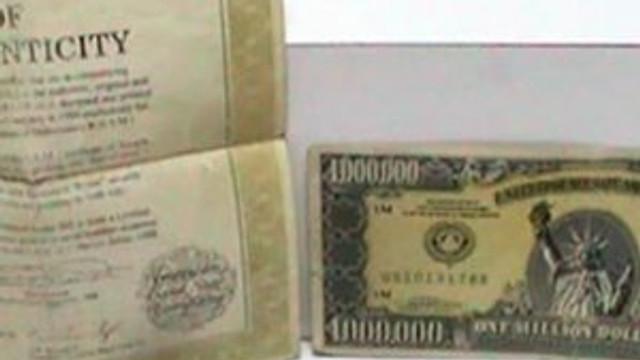 1 Milyon dolarlık banknot ele geçti