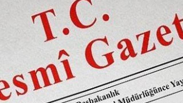 Yeni kanun Resmi Gazete'de