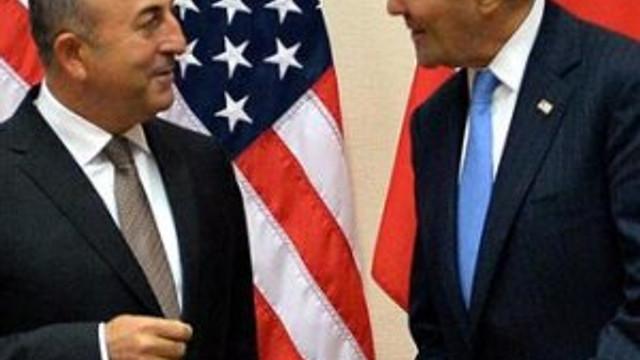 Çavuşoğlu Kerry'le 'Suriye'yi görüştü