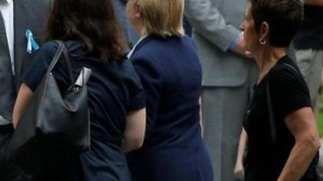 Hillary Clinton 11 Eylül törenlerinde fenalaştı