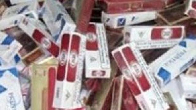 Binlerce paket sigara ele geçirildi
