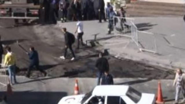 Erzurum'daki meydan kavgasından dehşet görüntüler