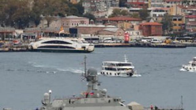 Rus füze gemileri İstanbul Boğazı'nda
