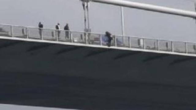 15 Temuz Şehitler Köprüsü'nde intihar girişimi