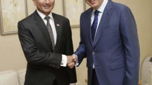 Singapur Dışişleri Bakanı'ndan Başkan Türel'e ziyaret
