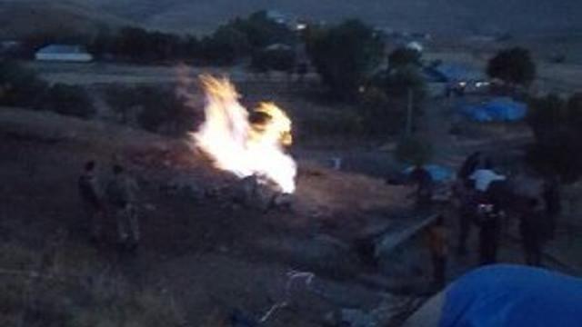 Su ararken ateş buldular