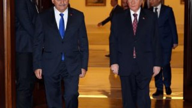 Başbakan Yıldırım - Bahçeli görüşmesi sona erdi