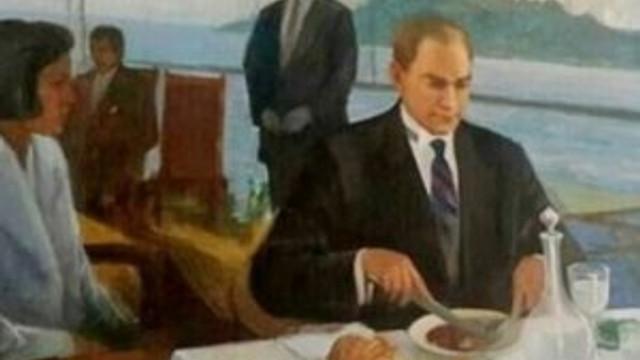 Rakılı Atatürk tablosu Meclis'ten kaldırıldı