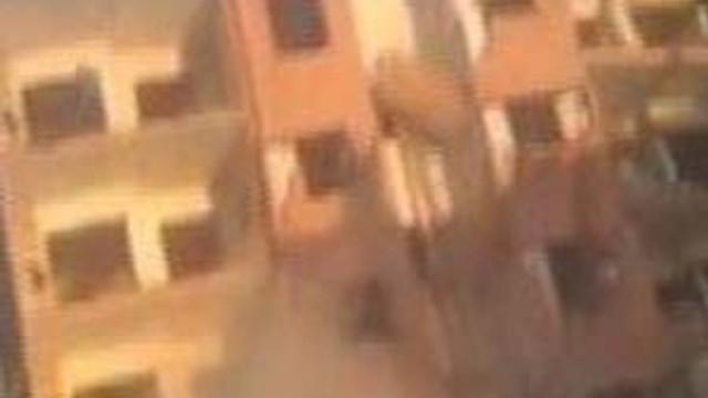 Bir taşla 5 katlı binayı böyle yıktı