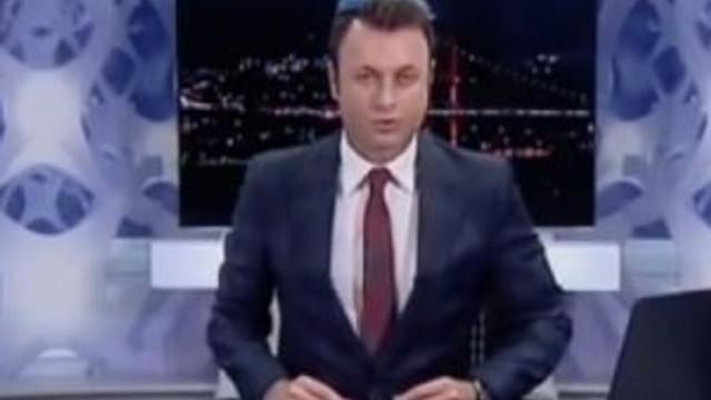 Flaş TV spikeri niçin başında huni ile ekrana çıktı ?