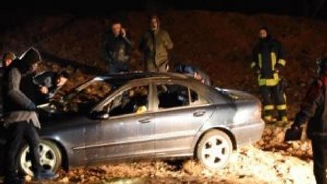Yanan lüks otomobilden erkek cesedi cıktı