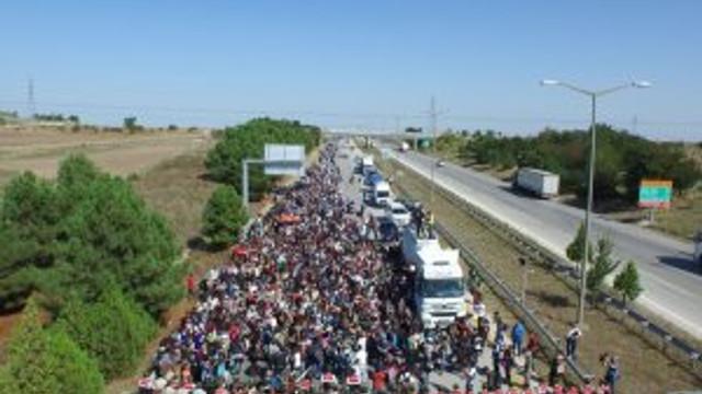 Suriyeliler Avrupa'ya gitmek istiyor