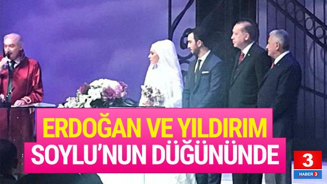 Cumhurbaşkanı Erdoğan' Soylu'nun düğününde