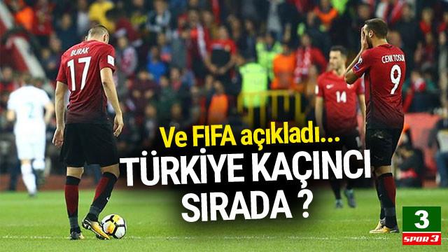 FIFA açıkladı ! Türkiye kaçıncı sırada ?