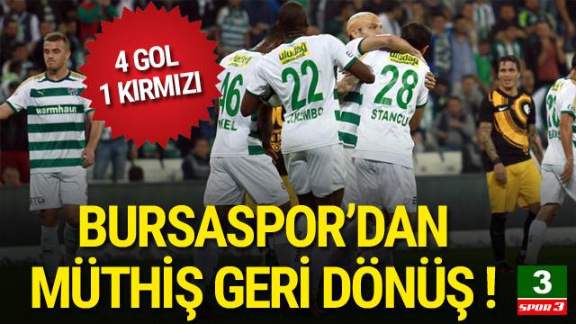 Bursaspor'dan müthiş geri dönüş