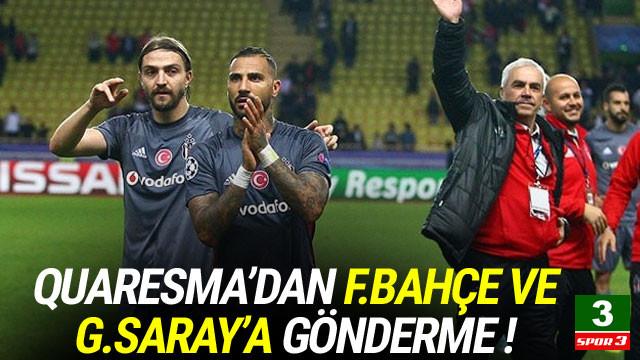 Quaresma'dan Galatasaray ve Fenerbahçe'ye gönderme