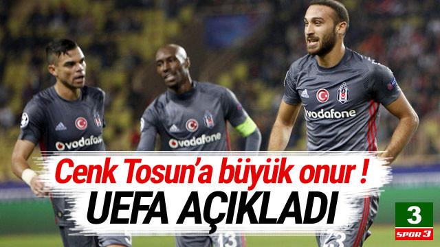 Cenk Tosun'a büyük onur ! UEFA açıkladı...