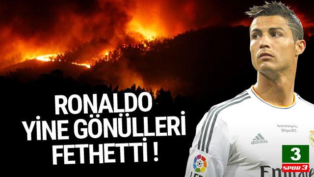 Cristiano Ronaldo yine gönülleri fethetti !