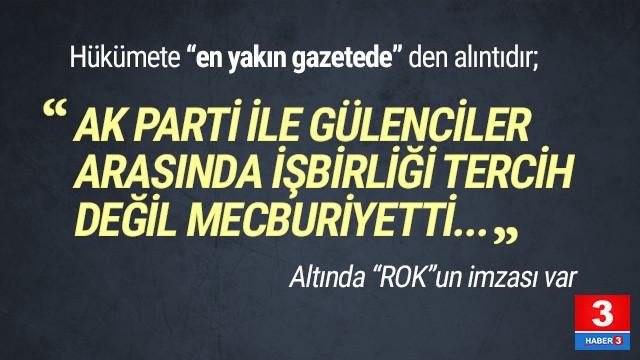 Rasim Ozan Kütahyalı: ''AK Parti ile Gülencilerin işbirliği mecburiyetti''