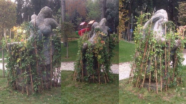 Güzel İstanbul Heykeli'ne fidan çitiyle sansür