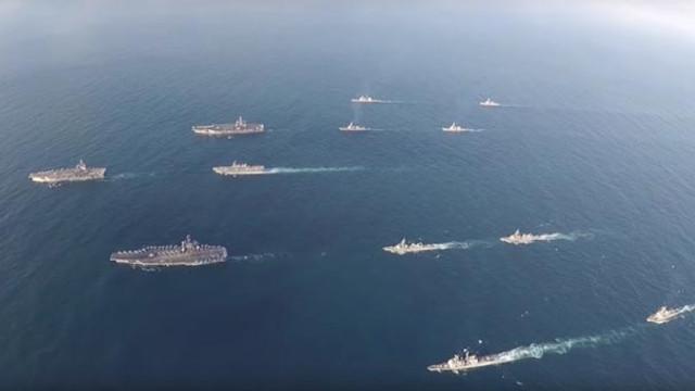 ABD uçak gemileri Kore Yarımadası'nda