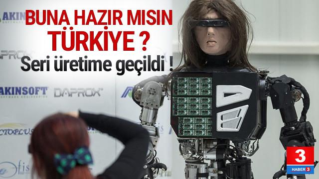 Türkiye'nin ilk robot fabrikası seri üretime geçti
