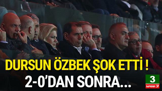 Dursun Özbek maçı içerden takip etti