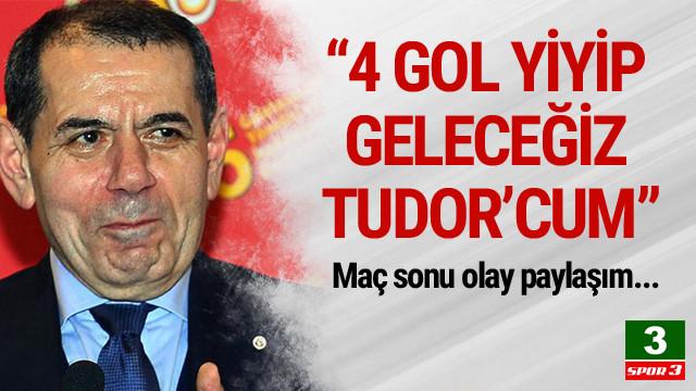 Galatasaray fark yedi, capsler havada uçuştu