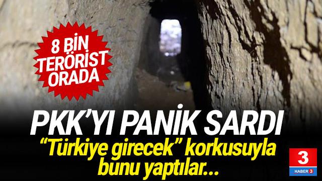 PKK'nın Türkiye korkusu ! Tünel kazmaya başladılar