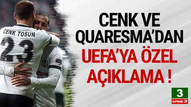 Quaresma ve Cenk'ten UEFA'ya açıklama