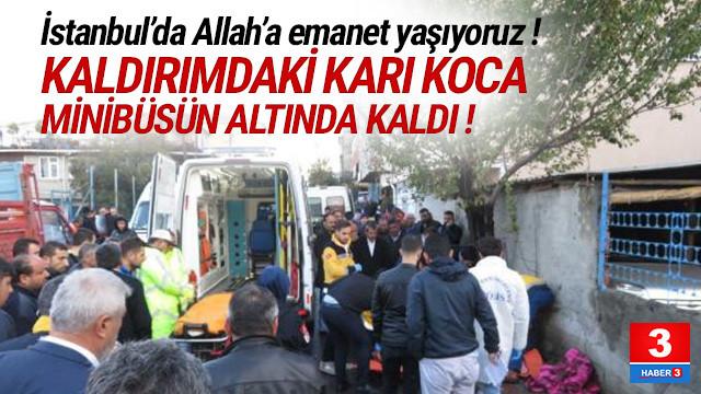 Servis minibüsü kaldırımdaki karı kocayı ezdi: 2 ölü