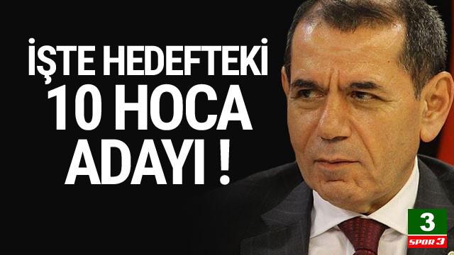 Dursun Özbek'in listesindeki 10 hoca adayı
