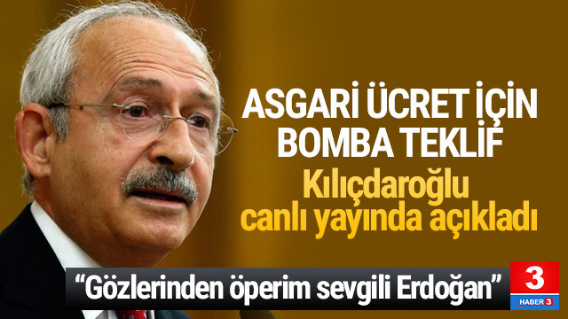 Kılıçdaroğlu'ndan asgari ücret teklifi