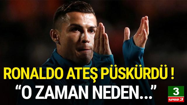 Ronaldo'dan basın mensuplarına sert tepki