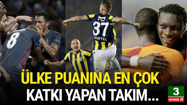 Ülke puanına en çok katkı yapan takım Beşiktaş !