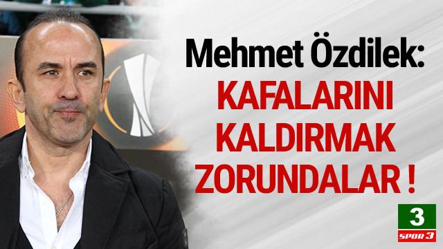 Mehmet Özdilek: Üzgünüz
