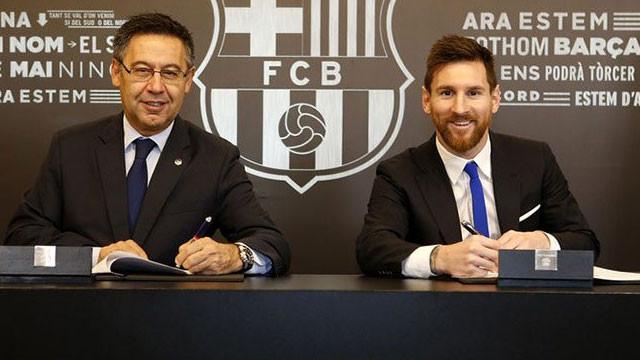 Lionel Messi imzayı attı !